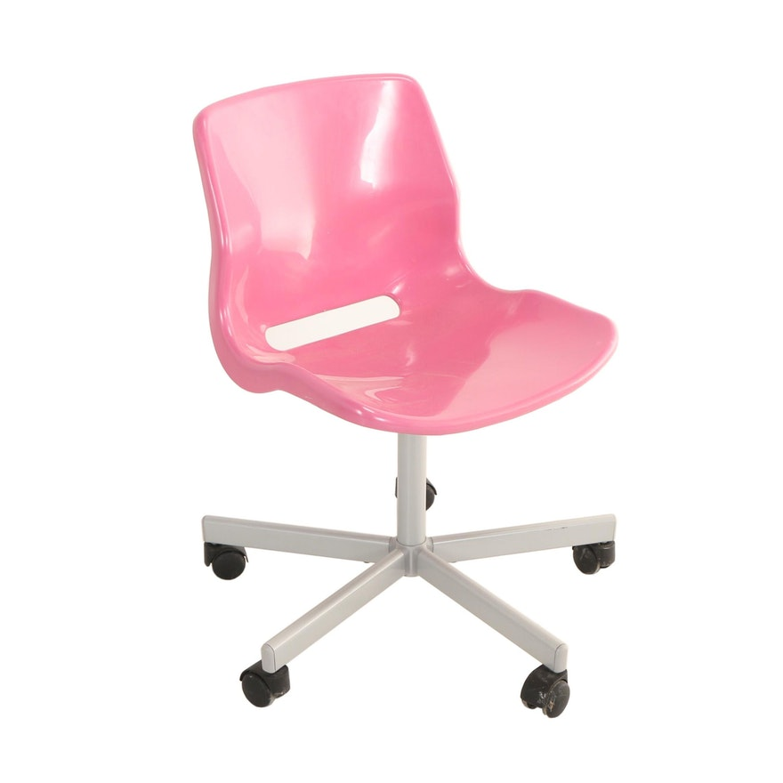 Astonishing Ikea Snille Molded Plastic And Powder Coated Steel Childs Swivel Desk Chair Theyellowbook Wood Chair Design Ideas Theyellowbookinfo