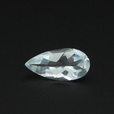 Loose 1.45 CT Aquamarine Gemstone