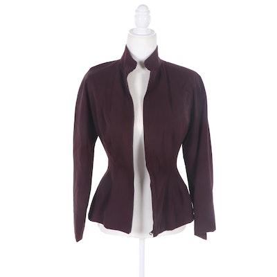 Jean Paul Gaultier Wool Blend Zipper-Front Jacket