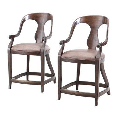 Pair of Artistica by Winny Furniture Wooden Barstools