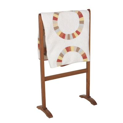 Martha Stewart Collection King Size Quilt and Wooden Quilt Rack