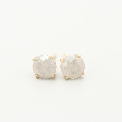 14K Yellow Gold 1.50 CTW Diamond Stud Earrings