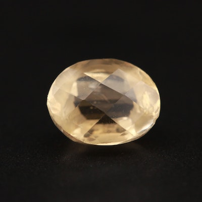 Loose 3.01 CT Oval Faceted Citrine Gemstone