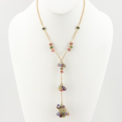 Rossi 18K Yellow Gold Mixed Gemstone Briolette Necklace