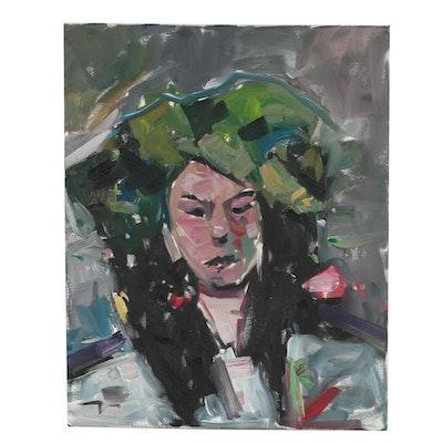 "Jose Trujillo Oil Painting ""Spring Goddess"""