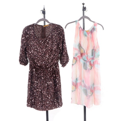 Alice and Olivia Sequin Embellished and Sleeveless Occasion Dresses