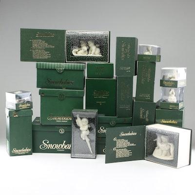 """Department 56 """"Snowbabies"""" Porcelain Figurines, 1990s-2000s"""