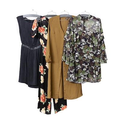 Alice + Olivia Black Silk Dress, Topshop Jumpsuit and Other Dresses