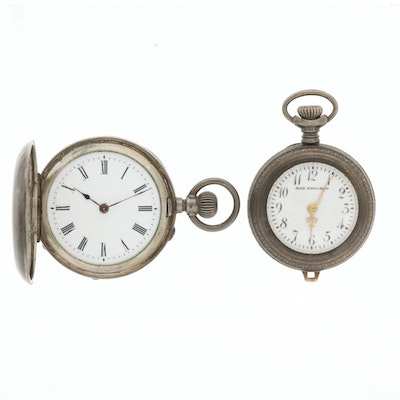 Pair of Antique Silver Pocket Watches