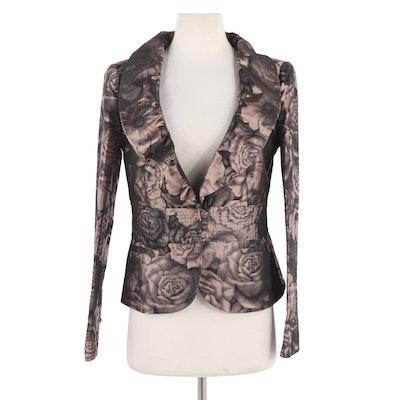 Armani Collezioni Floral Print Suit Jacket