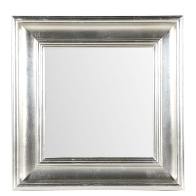 "Contemporary ""Washington Square"" Mirror with Silver Gilt Finish"