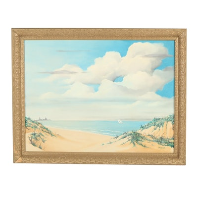 James McGregor Chicago Skyline Oil Painting