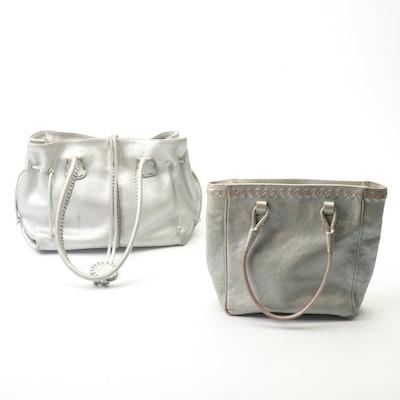 Bottega Veneta and Carlos Falchi Metallic Leather Satchels