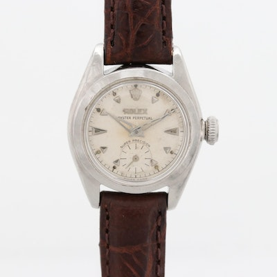 Vintage Rolex Oyster Perpetual Bubble Back Automatic Wristwatch, 1952