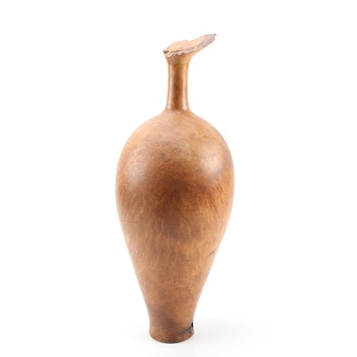 Bruce Bernson Turned Burl Wood Vase, 1991