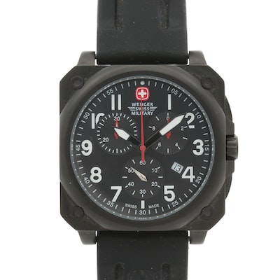 Wenger Swiss Military Aerograph Cockpit Chronograph Watch With Ionic Plating