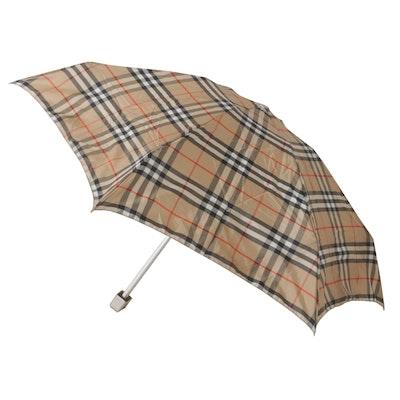 "Burberry London ""Haymarket Check"" Umbrella"
