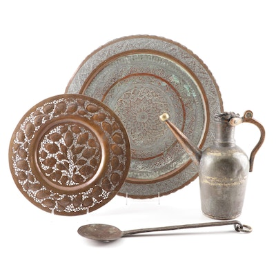 Moroccan Inspired Copper Trays and Pitcher