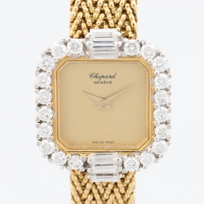 Chopard 18K Yellow Gold 1.24 CTW Diamond Stem Wind Wristwatch