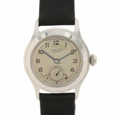 Vintage Rolex Oyster Lipton Stainless Steel Wristwatch, Circa 1940