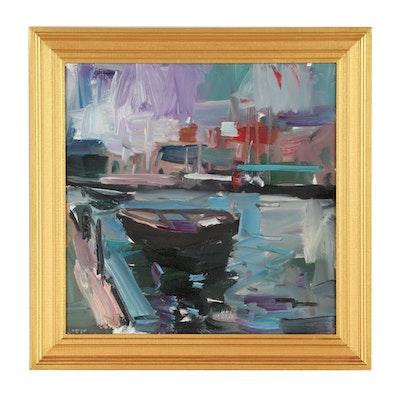 "Jose Trujillo 2019 Oil Painting ""The Row Boat"""
