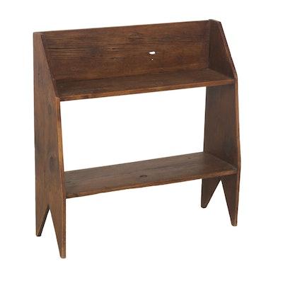 Handmade Primitive Kitchen Pantry Shelf, 19th Century