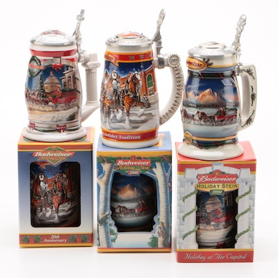 "Budweiser Holiday Steins Including ""A Century of Tradition"", Contemporary"