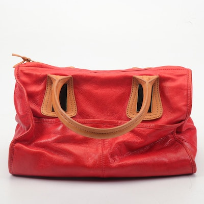 3.1 Phillip Lim Red and Tan Leather Satchel