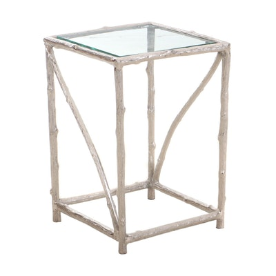 Cast Aluminum Twig Table, Contemporary