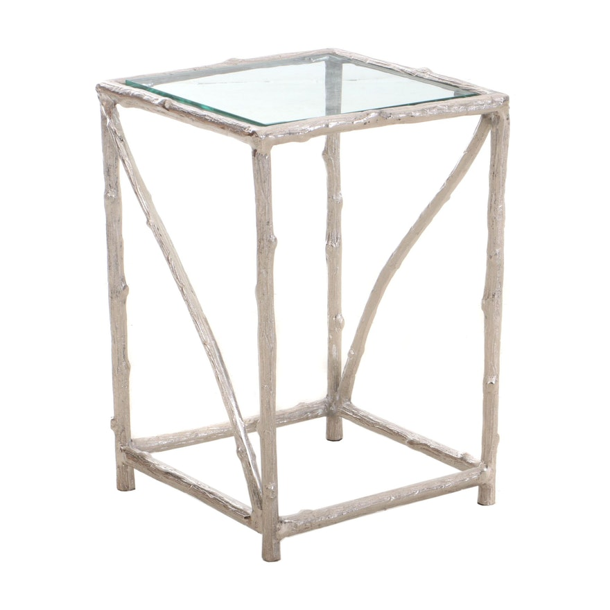 Cast Aluminum Twig Table, Contemporary