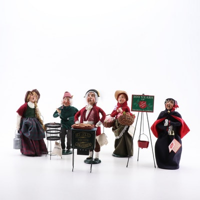 "Byers' Choice Ltd. ""The Carolers"" including Salvation Army Bell Ringer"