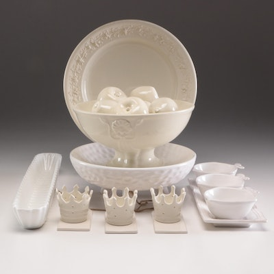 Wedgwood Chop Plate and Other Dinnerware Items, Mid to Late 20th Century