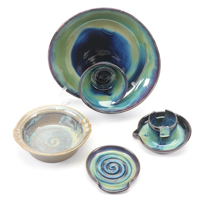 Wheel-Thrown Decorative Pottery and Serving Dishes Featuring Dick Lehman