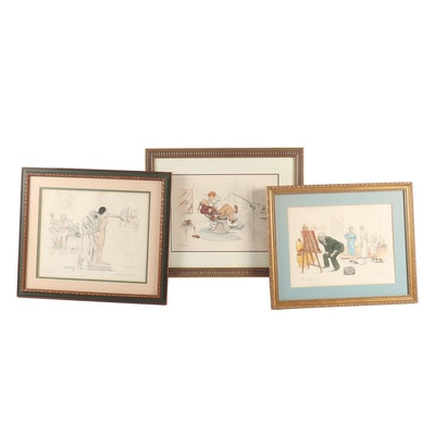 Gaston Hoffman Mid-Century Lithographs and Etchings