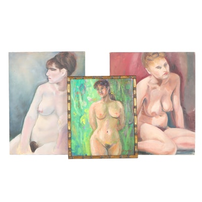 Mid - Late 20th Century Female Nude Oil Paintings