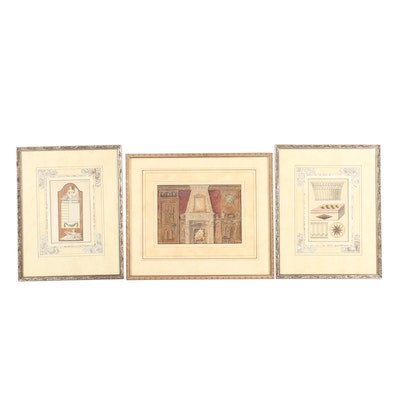 19th Century Architectural Illustrations