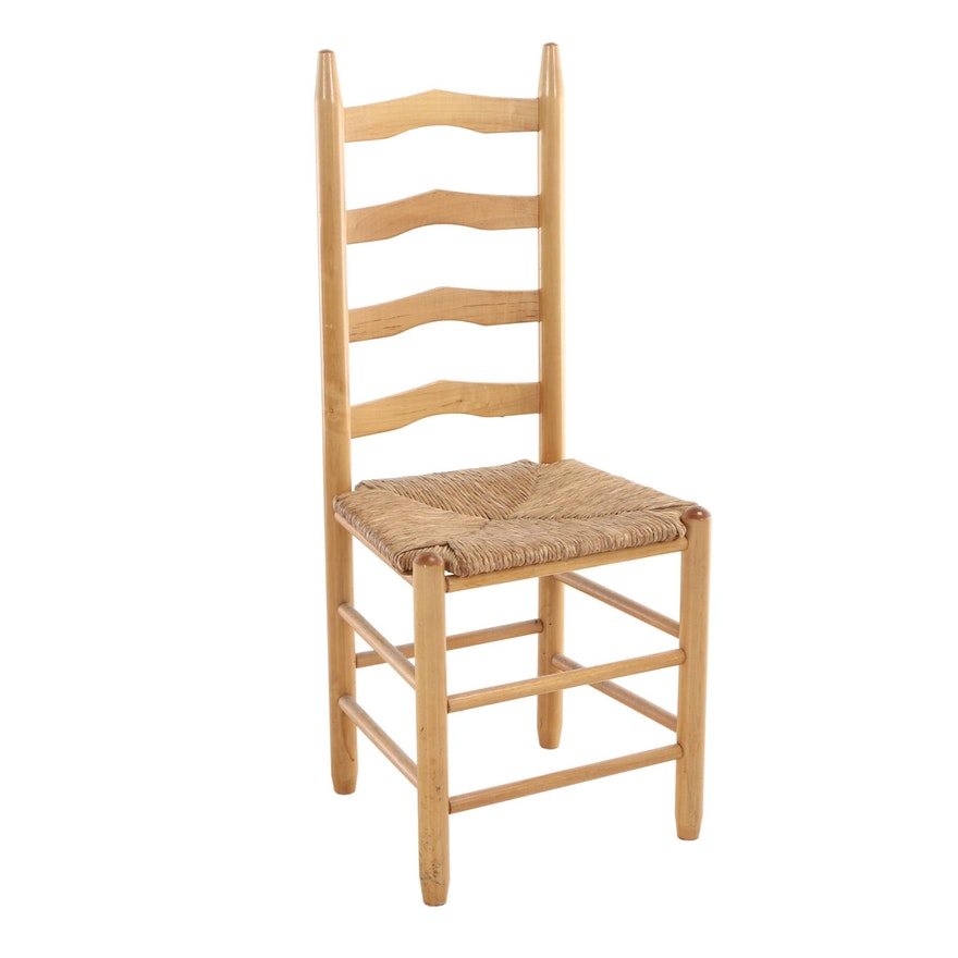 Ladderback Side Chair with Rush Seat