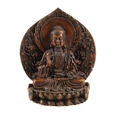 Bronze Finish Resin Buddha Figure