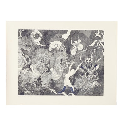 """Guillaume Azoulay Etching """"Le Grand Cirque"""""""