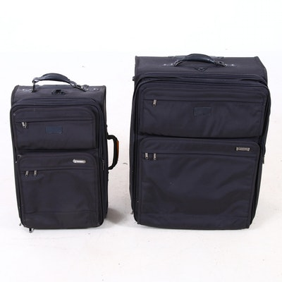 Travel-Pro Black Nylon Two-Piece Luggage Set
