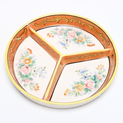 Morimura Mori-machi Porcelain Divided Tray, Circa 1920s