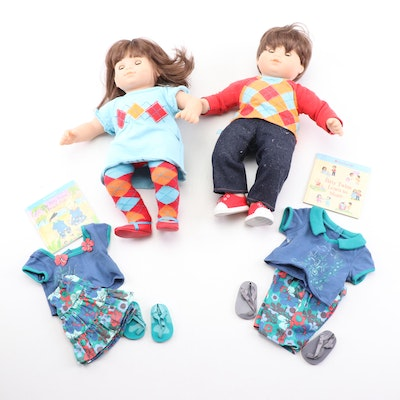 American Girl Brown Hair and Eyes Bitty Twins with Accessories and Original Box