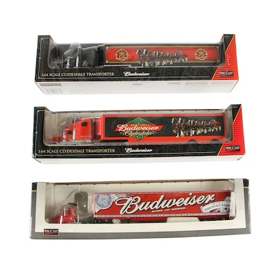 1:64 Collectible Budweiser Die Cast Tractor Trailers