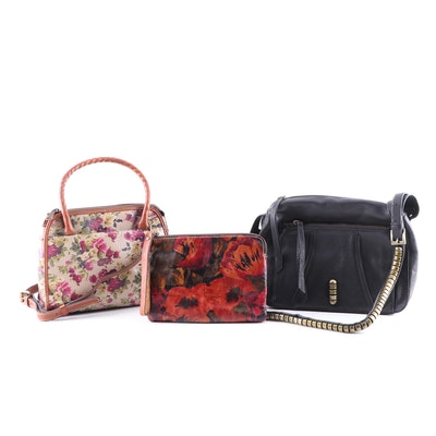 Patricia Nash Printed Leather and Kelsi Dagger Pebbled Leather Handbags