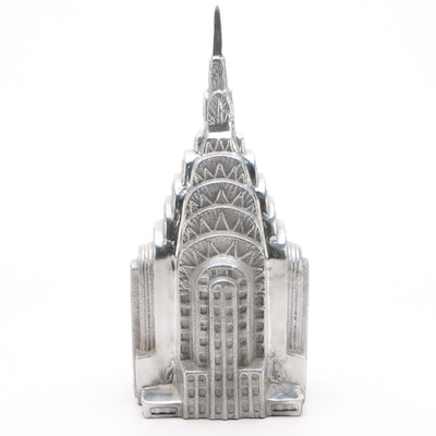 Cast Aluminium Chrysler Building Crown and Spire, Late 20th Century