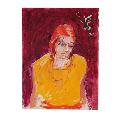 Oscar Murillo Abstract Oil Portrait