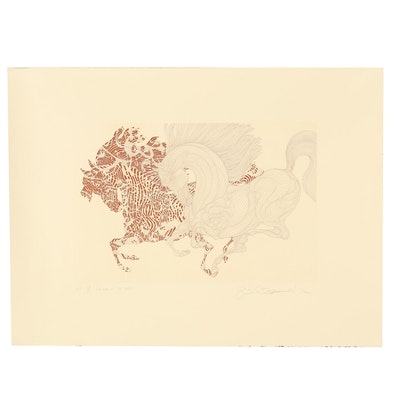 """Guillaume Azoulay """"Harlequin"""" Etching"""
