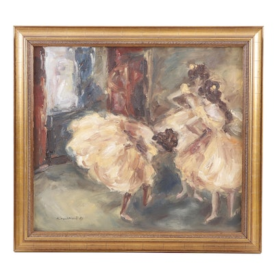 Knachtlova Impressionist Oil Painting of Ballerinas
