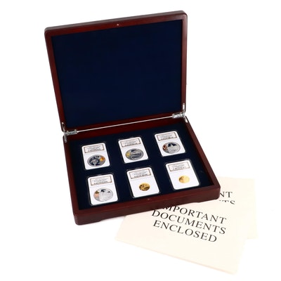 2008 China Beijing Olympic Games Gold and Silver Six Coin Proof Set