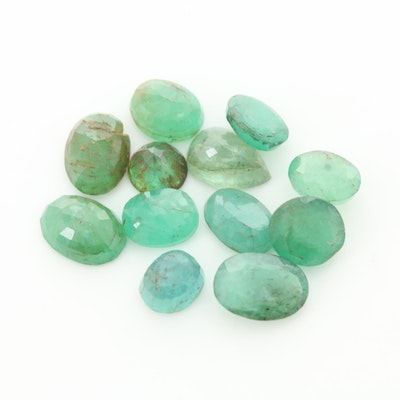 Loose 7.03 CTW Emerald Gemstones